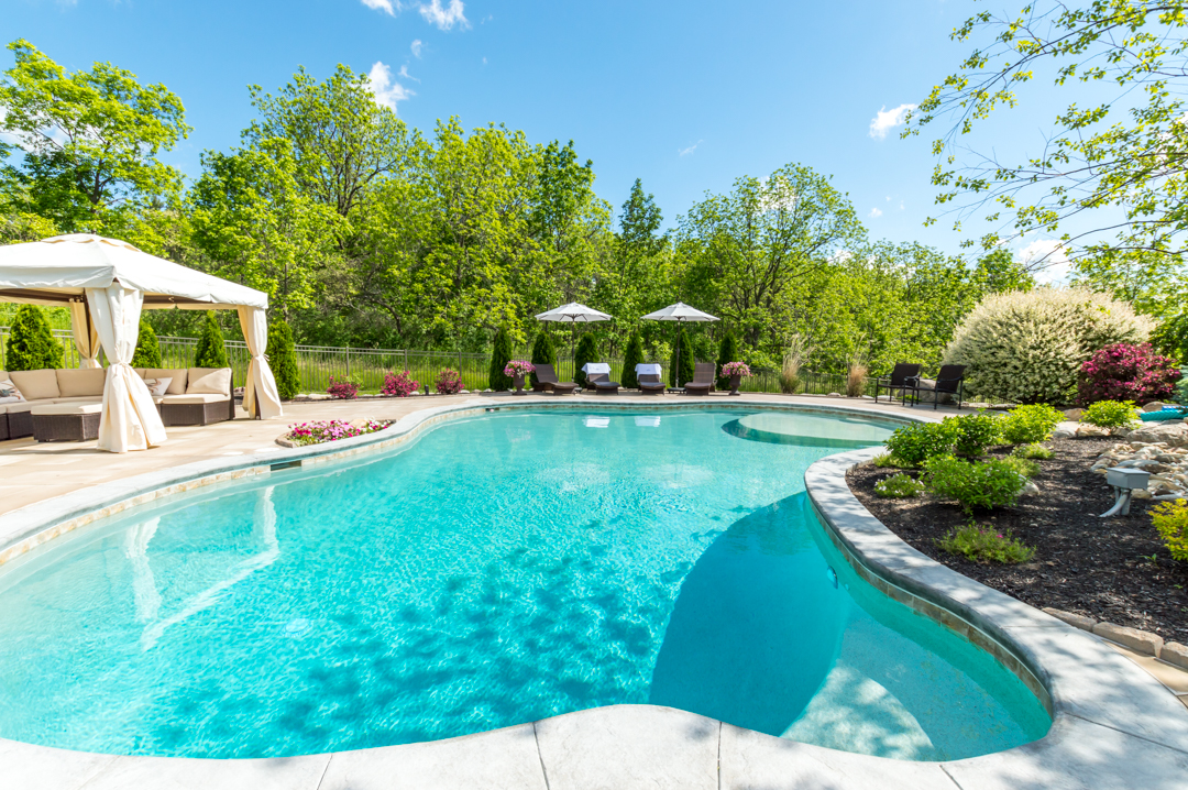 inground pool, cuddle cove pool, gunite swimming pool, conrete pool, Rochester, NY,