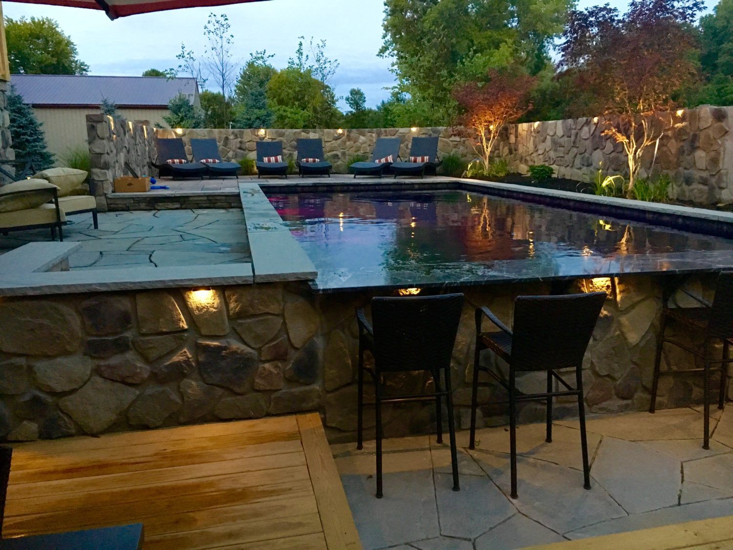 Custom swim up bar for Pool bar design ideas