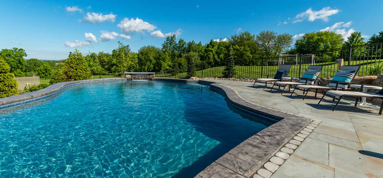 inground pool, gunite, Rochester pool and spa builder, infinity, Precision