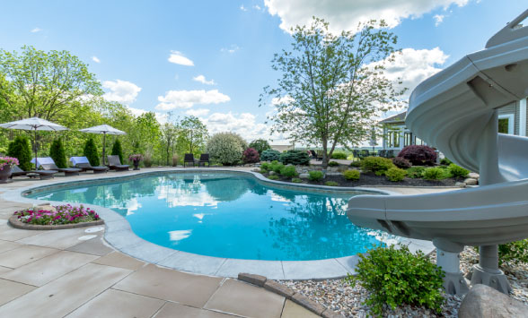 In ground pool and spa builder precision pool and spa for Inground pool and spa