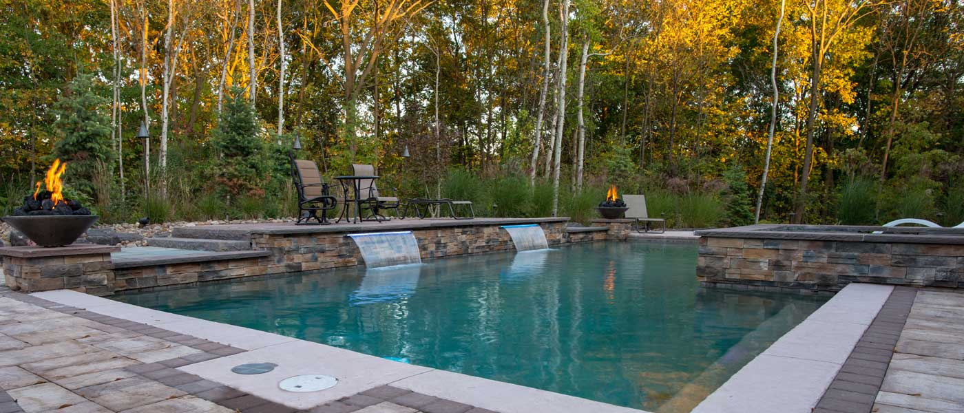 Woodland Waterfall Serenity Precision Pool And Spa