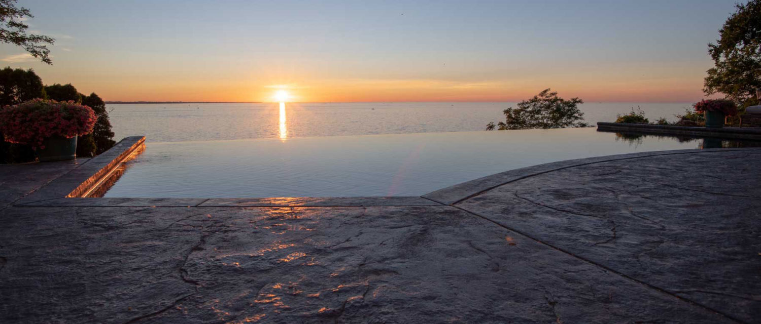 Sunset Lake Ontario Infinity Pool