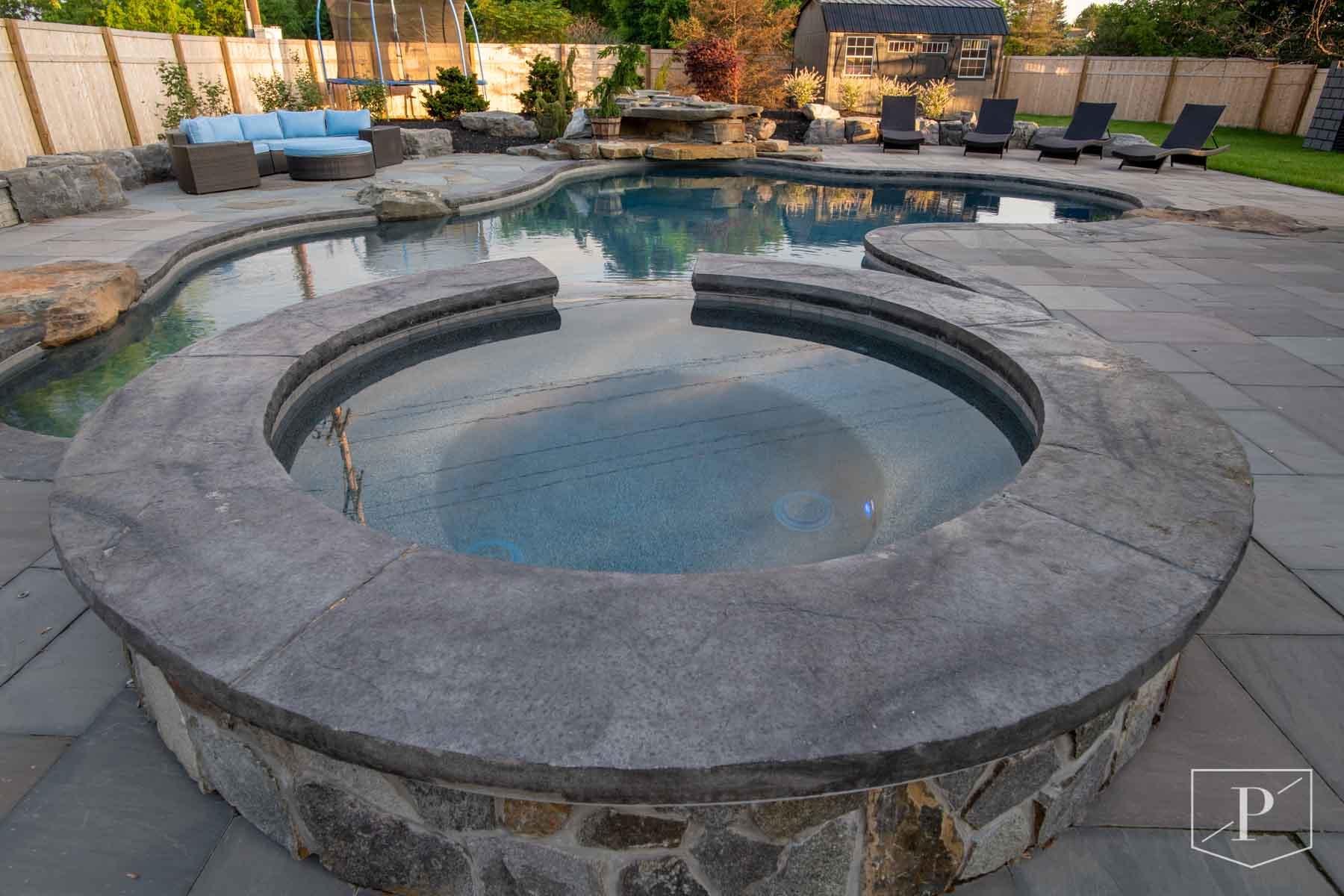 In Ground Gunite Pool Installation Precision Pool And Spa