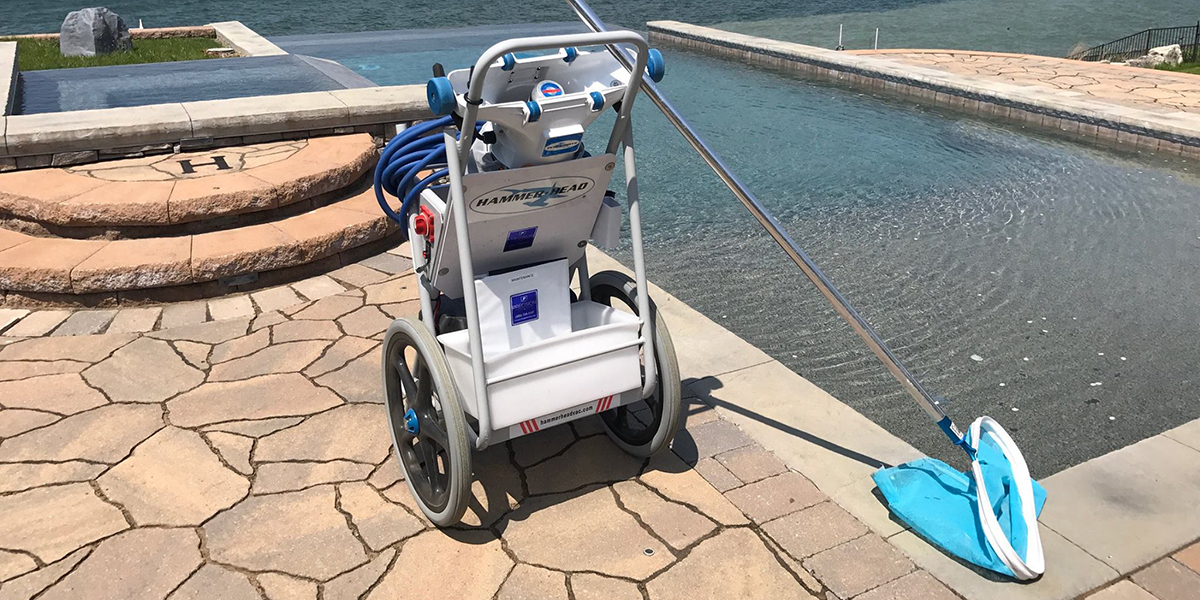 Pool Cleaning Cart