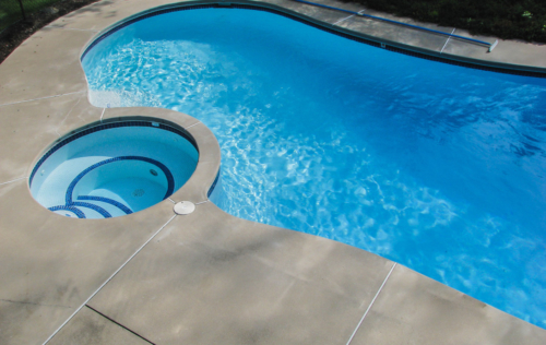 In-ground pool and spa combo