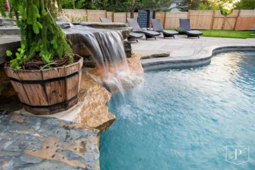 Perfect Waterfall in the Pool